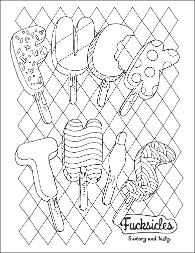 fucksickles fuck this free curse word coloring page - Free Printable Coloring Pages