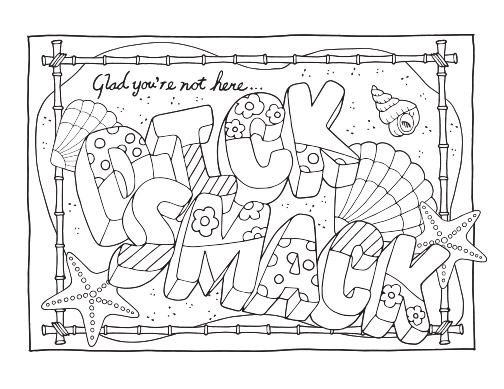 Swear Word Adult Coloring Pages Ah Small Dicksmack