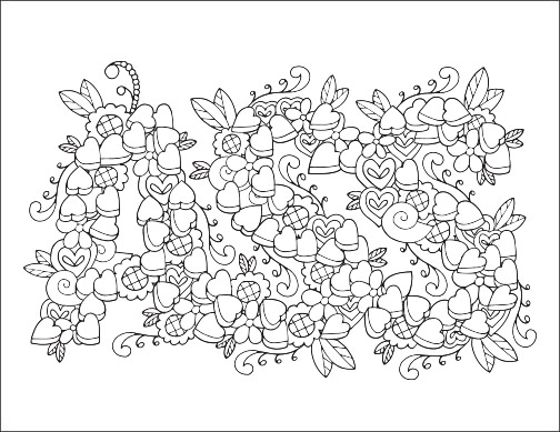 92 Coloring Pages With Words