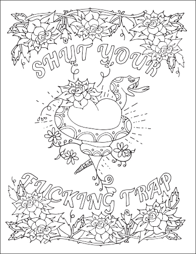 Crazy image with regard to free printable coloring pages for adults only swear words