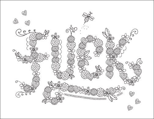 Adult Coloring Pages Swear Words Id 21064 Source Download