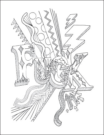 Free swear word adult coloring pages