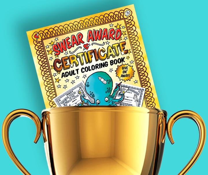swear award coloring book