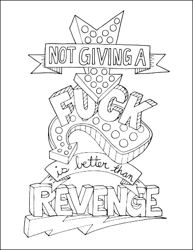 make life your bitch swear word coloring book - Book Coloring Pages