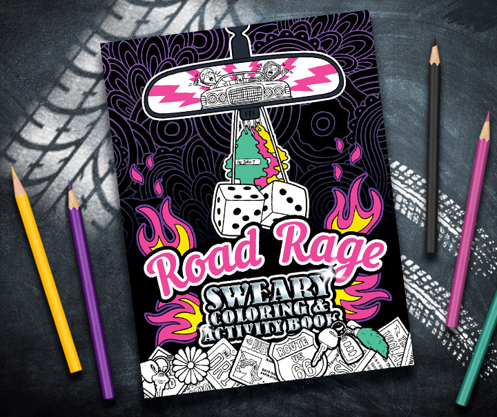 Road Rage Sweary Coloring Activity Book