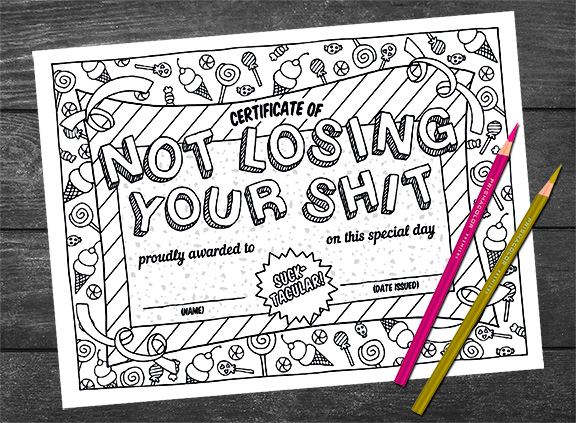 free coloring page best gag gifts