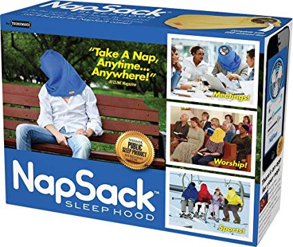 Nap sack sleep hood gift box