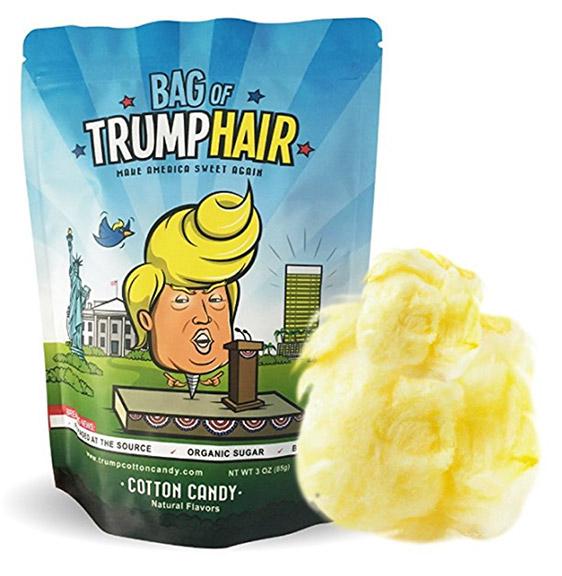trump hair cotton candy xmas gag gift