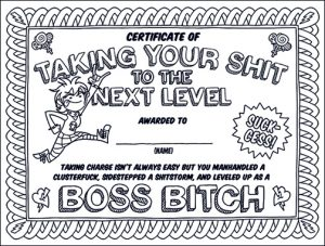 suckcessbossbitchshow  swear word coloring book