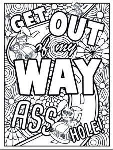 roadragecoloringbookfreepageway  swear word