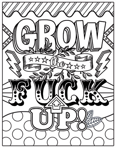 Free Printable Coloring Pages For Adults With Swear Words