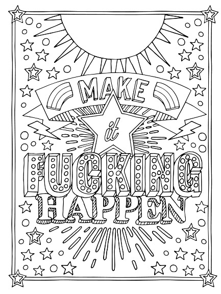FREE Printable Coloring Pages For Adults With Swear Words!