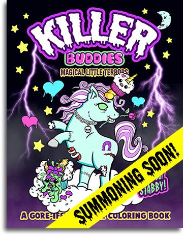 Killer Buddies Horror Coloring Book