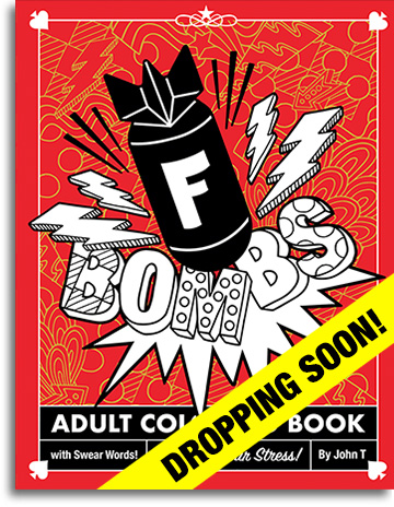 F Bombs Adult Coloring Book